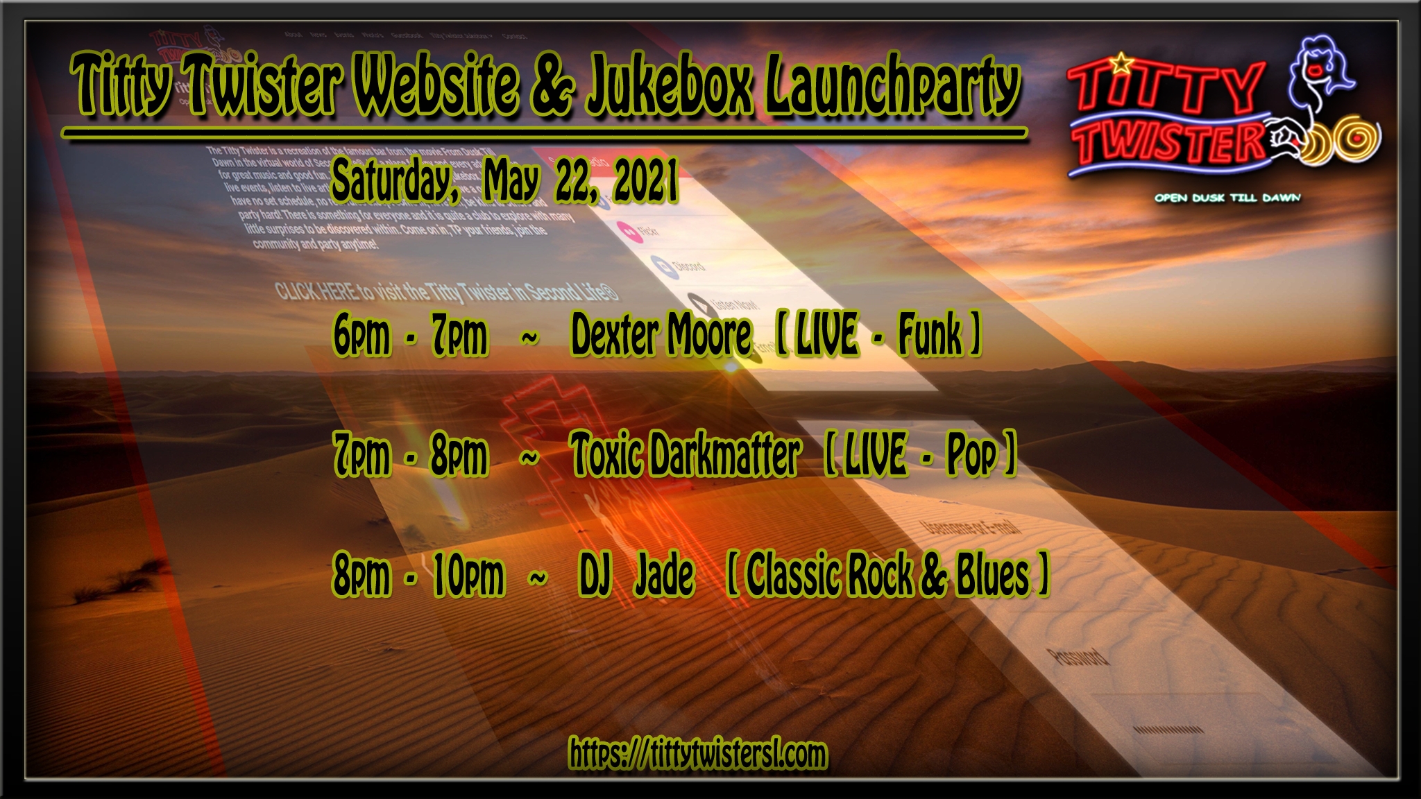 Titty Twister website and jukebox launchparty